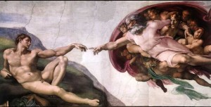 "Image of ""The Creation of Adam"" by Michaelangelo"