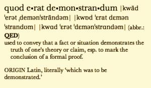 Quod erat demonstrandum
