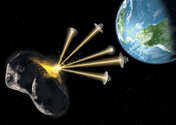Risultati immagini per asteroid deflection, impacts