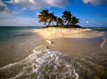 image of beautiful sandy island
